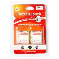 Batterie Photo - Optique 2 x batteries pour GoPro hero 3+ et GoPro 3 - MP EXTRA