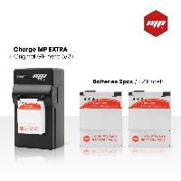 Batterie Photo - Optique 5F-LG4Q-FU5Y Pack de 2 batteries + chargeur pour GoPro 3+ et GoPro 3