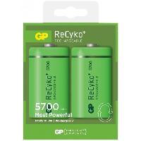 Batterie Photo - Optique Blister de 2 piles rechargeables Recyko D/LR20 5700mAh  - GP Batteries