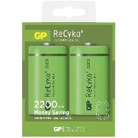 Batterie Photo - Optique Lot de 2 piles D 2200mAh Recyko+