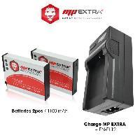Batterie Photo - Optique MP-EN-EL12-PACK Pack 2 batteries + chargeur ENEL12 pour NIKON