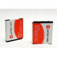 Batterie Photo - Optique MP-NP50 Pack de 2 batteries NP50 pour FUJIFILM