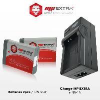 Batterie Photo - Optique Pack 2 batteries NB-13L. NB13L + chargeur pour CANON - MP EXTRA