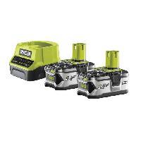 Batterie Pour Machine Outil RYOBI Lot de 2 Batteries 18V 4Ah + Chargeur 2A