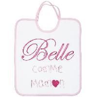 Bavoir Bavoir 1er Age Broderie Message Belle Comme Maman