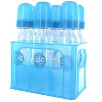 Biberon Et Pieces Detachees DBB REMOND Lot de 6 biberons en verre 240 ml + Porte-biberons - Turquoise translucide