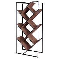 Bibliotheque Bibliotheque style contemporain en metal decor noyer - L 79.6 cm