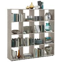 Bibliotheque MEGA Bibliotheque style contemporain melaminee decor chene sable - L 139 cm