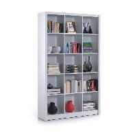 Bibliotheque STORY Etagere style contemporain blanc brillant - L 196 cm - Generique