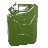 Bidons, Bouchons, Entonnoirs Jerrycan 10L metal vert TUV-GS