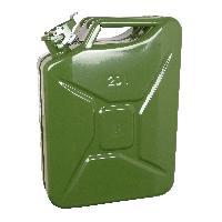 Bidons, Bouchons, Entonnoirs Jerrycan 20L metal vert TUVGS