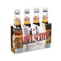 Biere Et Cidre ADELSCOTT Pack de 4 Bieres aromatisées au malt de whisky 5.8° - 33 cl