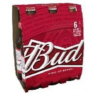 Biere Et Cidre Bud - Biere Blonde -  Pack de 6 x 25 cl