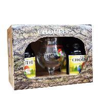 Biere Et Cidre Coffret Chouffe  4 bieres  + 1 verre - Generique