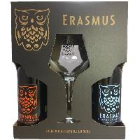 Biere Et Cidre Coffret Erasmus - 4 bieres x 33 cl + 1 verre