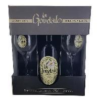 Biere Et Cidre Coffret La Goudale Biere blonde + 2 verres - 75 cl