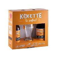 Biere Et Cidre Coffret de 2 bieres Kekette avec une verre - Blonde - 33 cl - Generique