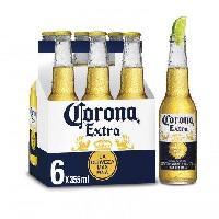 Biere Et Cidre Corona Extra - Biere Blonde -  Pack de 6 x 35.5 cl