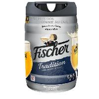 Biere Et Cidre FISCHER TRADITION Fût de biere blonde - Compatble Beertender - 5L