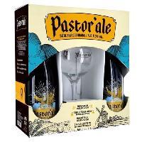Biere Et Cidre PASTOR'ALE - Coffret de 2 bieres + 1 verre - 2 x 75 cl