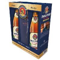 Biere Et Cidre PAULANER HEFFE-WEISS Coffret de 2 bieres x 50 cl + 1 verre