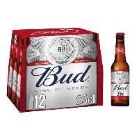 Biere Et Cidre Pack de 12 bieres BUD 25 cl