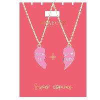 Bijoux -  Lunettes - Montres 2 Colliers Super Copines