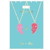 Bijoux -  Lunettes - Montres 2 Colliers TOI + MOI