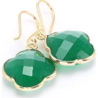 Bijoux CAPUCINE Boucles d'oreilles orOnyx Vert