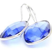 Bijoux PRIMEVeRE Boucles d'oreilles argent/Sapphire Quartz Ailoria
