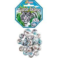 Bille - Boulet - Calot - Boulard - Caille KIM'PLAY 20+1 Billes Tigre Blanc - Kim Play