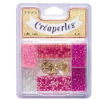 Billes Decoratives - Perles De Decoration - Verre Depoli Decoratif KIMPLAY Kit perles en verre - Rose