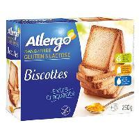 Biscotte - Assimile ALLERGO Biscottes dietetiques sans gluten - 250 g