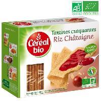 Biscotte - Assimile CEREAL BIO Tartines craquantes. spécialités céréalieres a la châtaigne Bio - 145 g