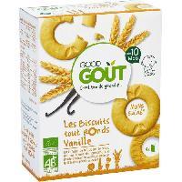 Biscuit Bebe GOOD GOUT Biscuits tout ronds Vanille Bio - Des 10 mois