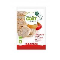 Biscuit Bebe GOOD GOUT Mini galette de riz a la pomme - Bio - 40g - Marque Nationale