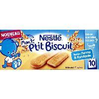Biscuit Bebe NESTLÉ Mon 1er P'tit biscuit 4 sachets - 180 g - Des 10 mois - Nestle