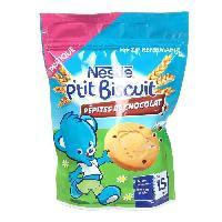 Biscuit Bebe NESTLE P'tit Biscuit aux pepites de chocolat 150 g - Des 15 mois