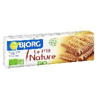 Biscuits - Patisserie Emballee BJORG Biscuits P'tit Nature Bio 200g