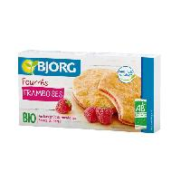 Biscuits - Patisserie Emballee BJORG Fourres aux Framboises - Bio - 175 g