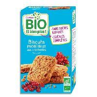 Biscuits - Patisserie Emballee DUKAN Biscuits moelleux Bio aux cranberries - 150 g