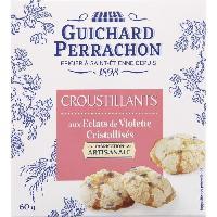 Biscuits Aperitif Croustillants aux eclats de violette - 50 g