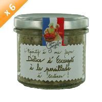 Biscuits Aperitif Delice d'Escargot en Persillade L'Aperitif a ma Facon 6x100g