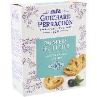 Biscuits Aperitif Feuilletees palmiers aux olives - 85 g