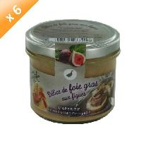 Biscuits Aperitif Lot de 6 Delices de Foie Gras aux Figues 100g LUCIEN GEORGELIN