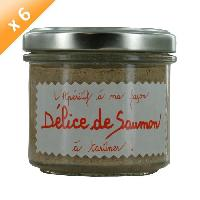 Biscuits Aperitif Lot de 6 Delices de Saumon L'Aperitif a ma Facon 100g LUCIEN GEORGELIN