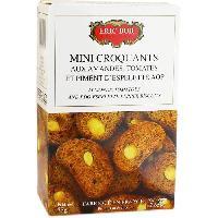Biscuits Aperitif Mini Croquants aux Amandes. Tomates et Piment d'Espelette AOP - 75 g