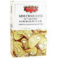 Biscuits Aperitif Mini Croquants aux Amandes et Fromage de Chevre - 75 g