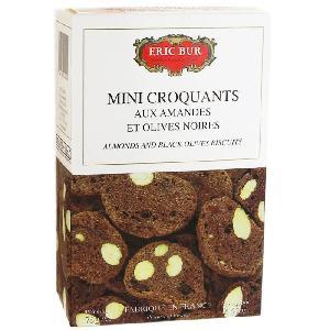 Biscuits Aperitif Mini Croquants aux Amandes et Olives Noires - 75 g