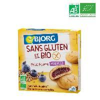 Biscuits Secs BJORG Biscuits Petit fourre Myrtille - Sans gluten - 180g